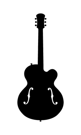 hollow body: Jazz Guitar Silhouette