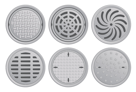 Manhole Covers. Each Pattern in seperate layer.