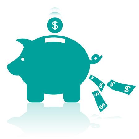representing: Money Box Representing Savings Illustration