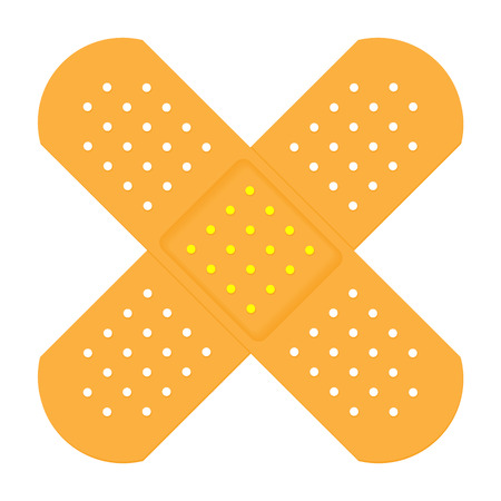 X Shaped Plasters Illustration