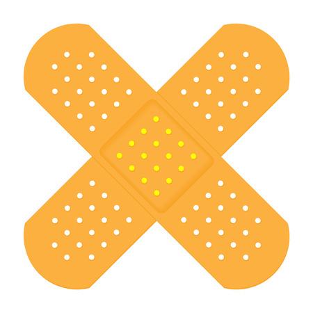 X Shaped Plasters Ilustracja