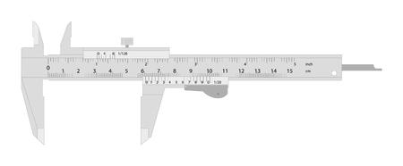 sliding scale: Vector Illustration Of A Caliper