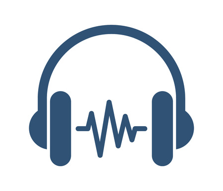 Vector Illustration Of A Headphone With Soundwave Illustration