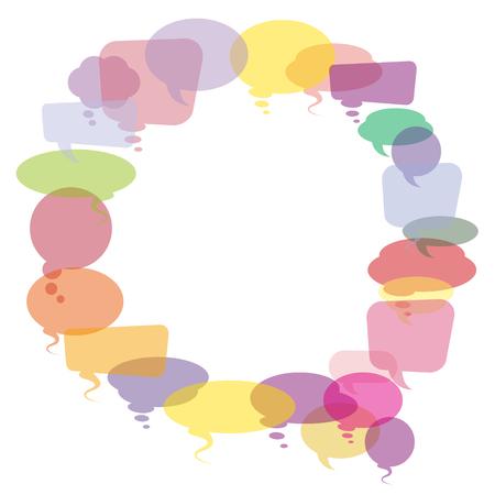 describe: Vector Illustration Of Colorful Speech Bubbles. Illustration