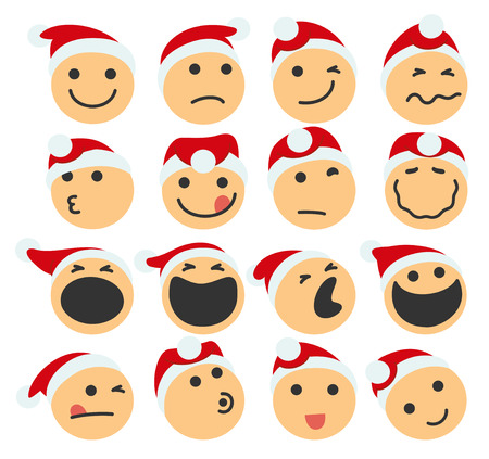 yawning: Vector Illustration Of A Set Of St Claus Icons Illustration