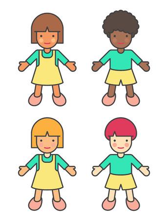 Children Of Different Ethnicities Illustration