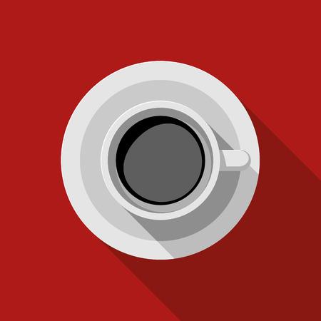 Flat Design Vector Illustration Of Espresso