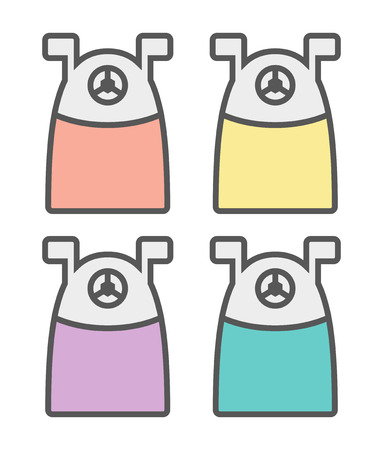pierce: Vector Illustration Of Various Colors Of Pencil Sharpeners