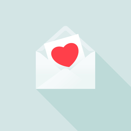 Love Letter. A Love Message in an Envelope
