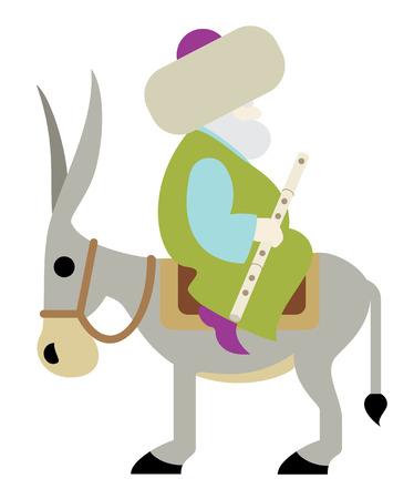 Nasreddin Hodja. Nasreddin Hodja Sitting backwards on his Donkey