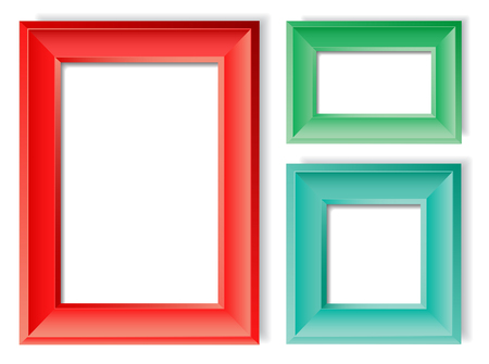information medium: Picture frames. Vector illustration of realistic picture frames. Layered separately. Global colors.