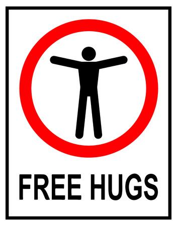 Free Hugs Traffic Sign. Vector Illustration of Free Hugs Traffic Sign.