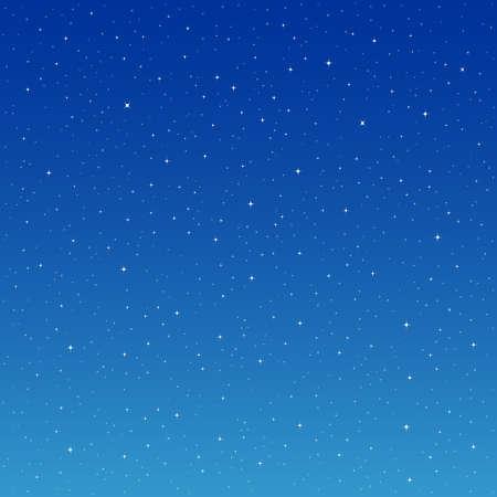 Stars on Blue Background. Vector Illustration of a Starry Sky. Illustration