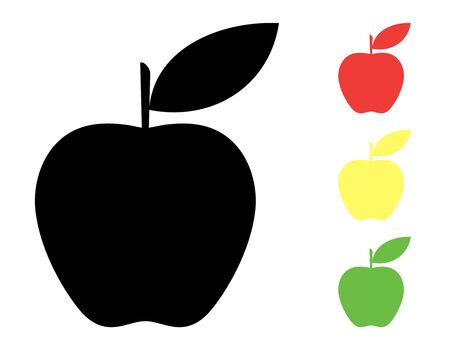 Set of colorful fruits icon.