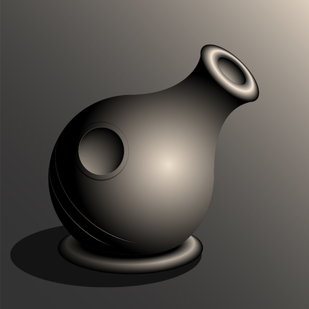 Udu Drum. Semi Realistic Vector Illustration Of An Udu Drum.