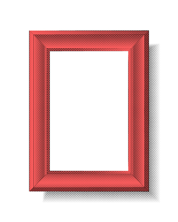 Picture frame with halftone effect. Vector illustration of a picture frame With halftone effect in retro style.