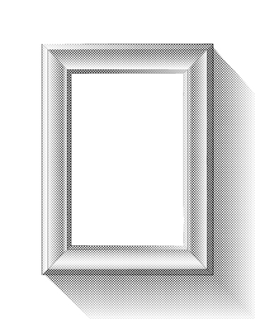 Picture Frame With Halftone Effect Иллюстрация