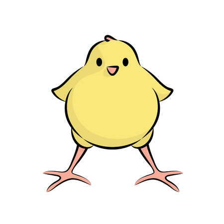 incubation: Cute Little Chick. Vector Illustration Of A Baby Chicken