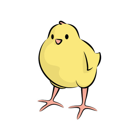 Cute Little Chick. Vector Illustration Of A Baby Chicken