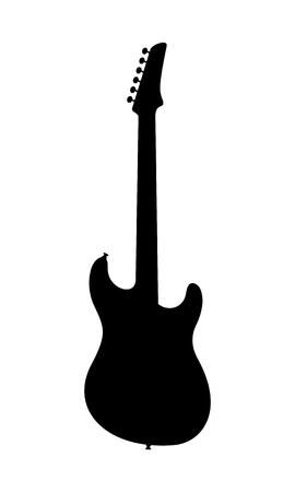 Electric guitar silhouette. Illustration
