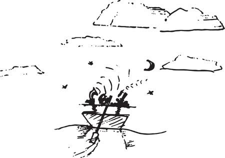 Romantic sketch Çizim