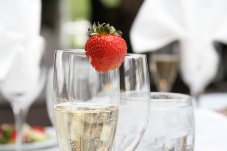 ストロベリー シャンパン 写真素材