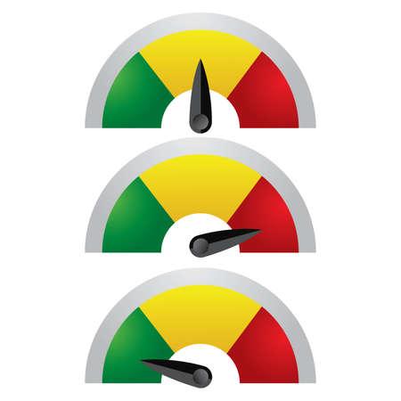 Valutazione Meter comprende 3 tipi di indicatori come l'ambra verde & Red.You possono migliorare questo una volta scaricare.