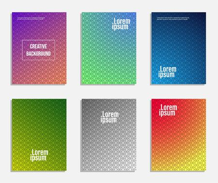 Minimal and modern cover design. set of geometric pattern background
