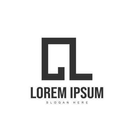 CL Letter logo design. Initial letter logo template design