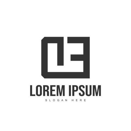 DE Letter logo design. Initial letter logo template design