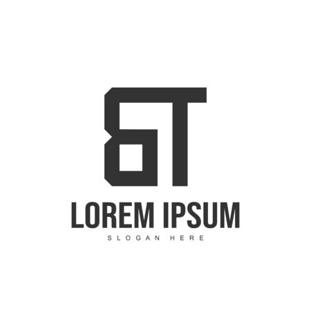 BT Letter logo design. Initial letter logo template design