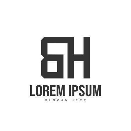 BH Letter logo design. Initial letter logo template design Logó