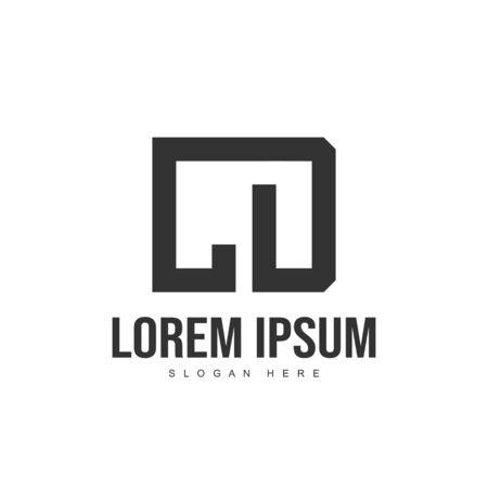 CD Letter logo design. Initial letter logo template design Illustration