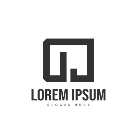 DC Letter logo design. Initial letter logo template design