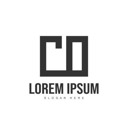 CO Letter logo design. Initial letter logo template design