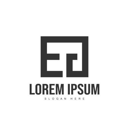 EG Letter logo design. Initial letter logo template design Logó