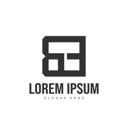 BE Letter logo design. Initial letter logo template design