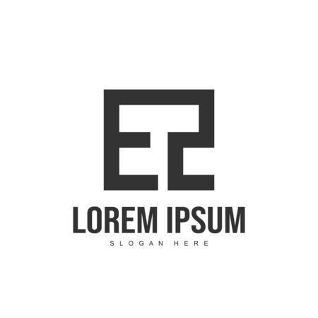 EZ Letter logo design. Initial letter logo template design
