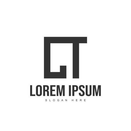 CT Letter logo design. Initial letter logo template design