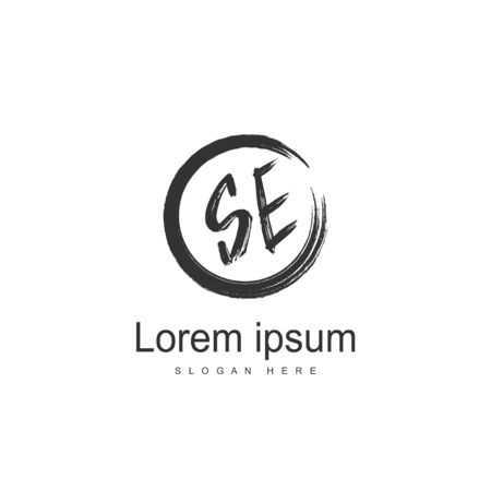 SE Letter logo design. Initial SE Logo template design