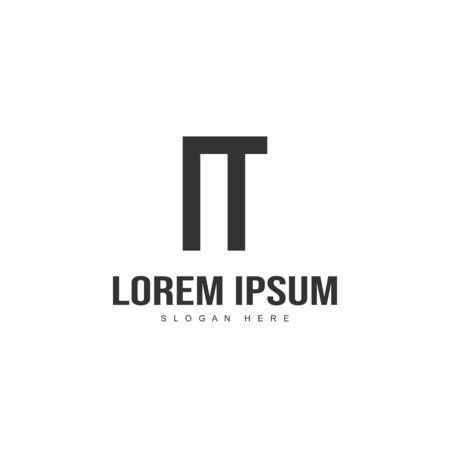 Initial letter logo design. Minimal letter logo template design Logo
