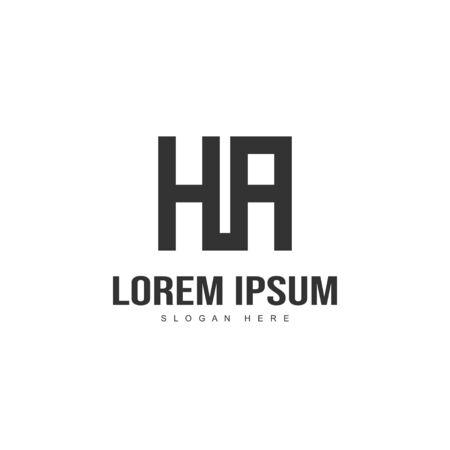 Initial letter logo design. Minimal letter logo template design Logó