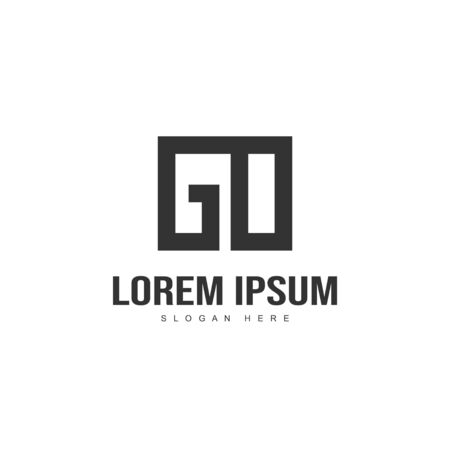 Initial letter logo design. Minimal letter logo template design