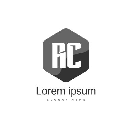 RC Logo template design. Initial letter logo template design