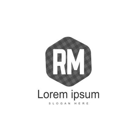 RM Logo template design. Initial letter logo template design Logó