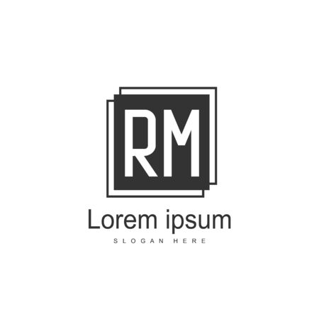 RM Logo template design. Initial letter logo template design Illustration