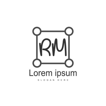 RM Logo template design. Initial letter logo template design