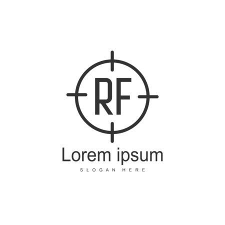 RF Logo template design. Initial letter logo template design
