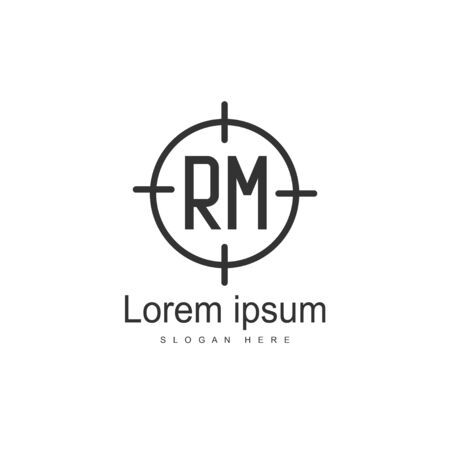 RM Logo template design. Initial letter logo template design Ilustração