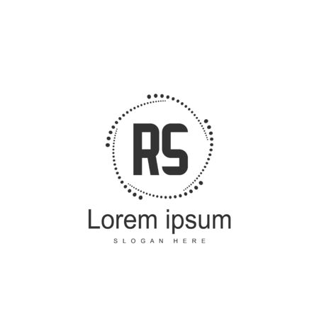 Initial RS Logo Template. Minimalist letter logo template design